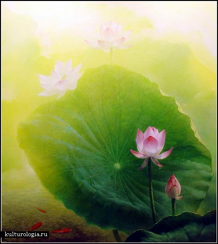 Лотосы в картинах молодых китайских художников