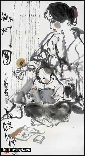 Китайские женщины в набросках Ван Сяо Понга (Wang Shiao Pong)