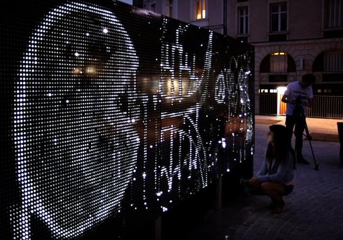 Световая инсталляция Water Light Graffiti, арт-проект Антонина Фурно