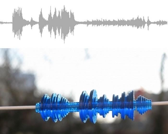 Украшения из звуков, арт-проект Дэвида Бизера (David Bizer)