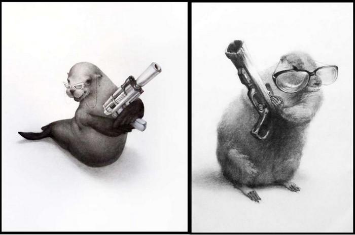Assassin Animals, животные с оружием в руках