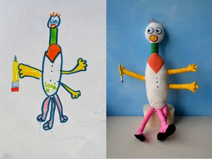 Игрушки по эскизам ребенка. Арт-проект Child's Own Studio