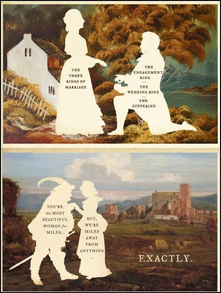 Рисунки с историей и черным юмором. Проект Silhouette Masterpiece Theatre