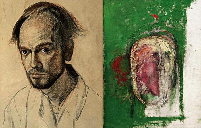 До и после Альцгеймера. Автопортреты Уильяма Утермолена (William Utermohlen) за 1967 и 1999 года