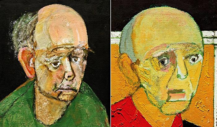Автопортреты Уильяма Утермолена (William Utermohlen) за 1997 год