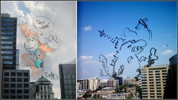 Windoodles, забавный арт-проект по преображению заоконных пейзажей