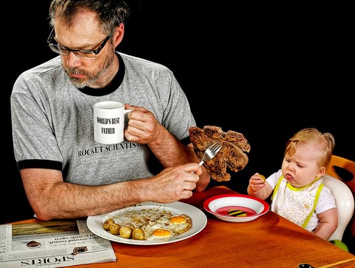 Отцы и дети. Дэйв Инглдоу и малютка Элис в фотопроекте Лучший в мире папа (World's Best Father)