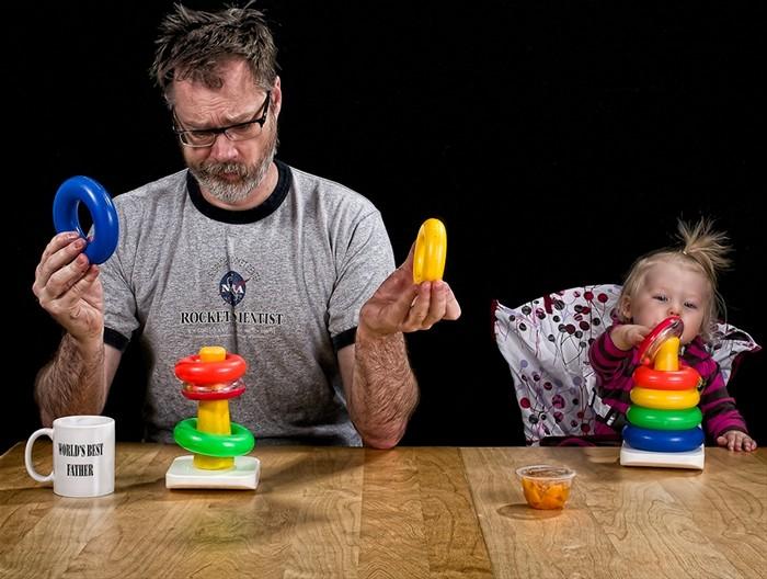 Дэйв Инглдоу (Dave Engledow) и его дочка Элис в фотопроекте Лучший в мире папа (World's Best Father)