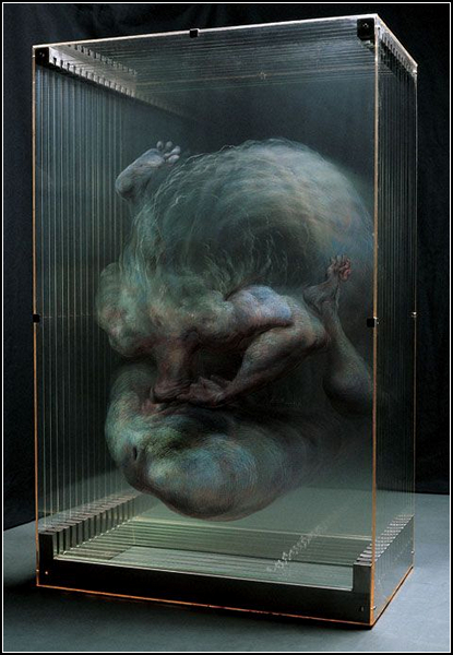 Трехмерные картины из стеклянных слоев