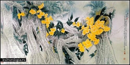 Живопись в стиле гохуа от китайского автора Yitao Liu