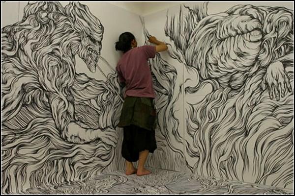 Комната-картина от Йосуке Года (Yosuke Goda)