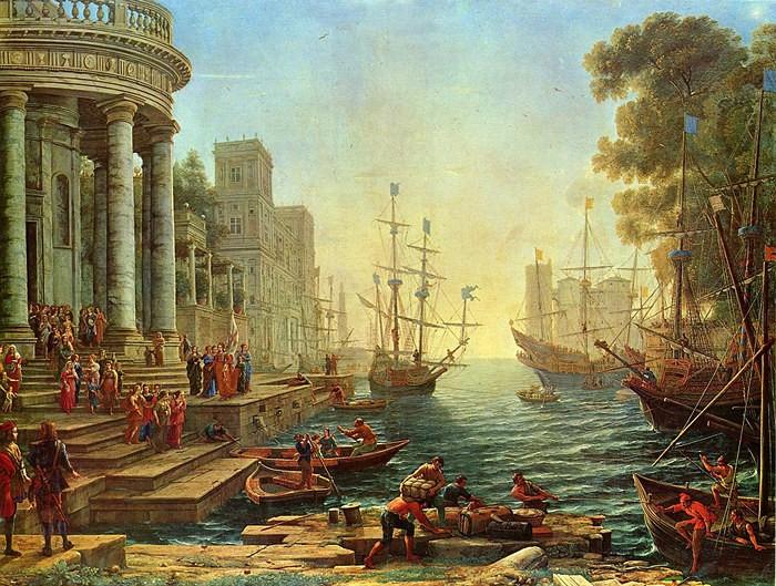 Клод Лоррен «Морской порт. Отплытие Святой Урсулы»