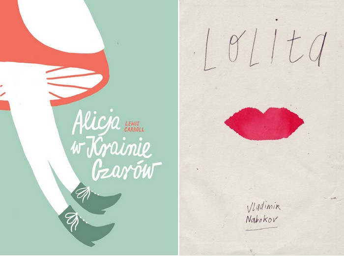 Другая обложка для *Алисы* Кэрролла и стилизованная *Лолита* Набокова. Конкурсные работы для Polish Book Cover Contest