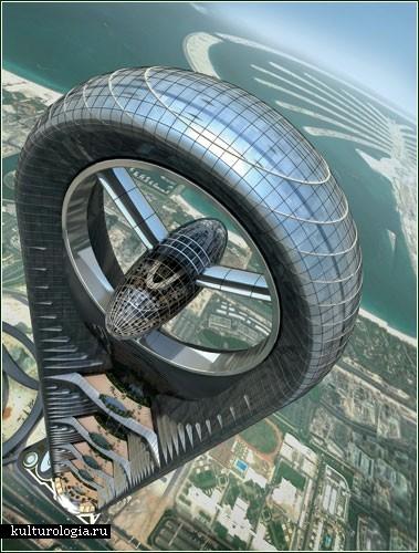 Новый небоскреб в Дубаи, теперь с пропеллером