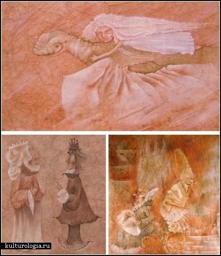 Анна Петрова. Пастели на батик-бумаге