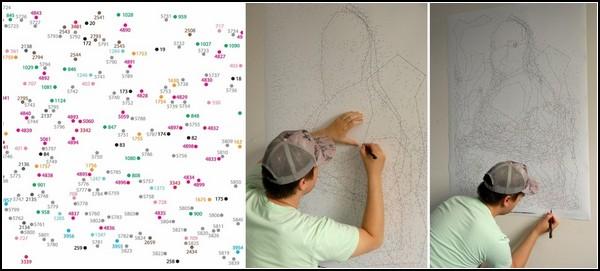 Необычный способ нарисовать Джоконду: соедини 6239 точек
