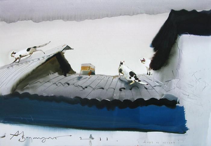 Акварельная живопись Александра Шумцова, он же Аруш Воцмуш