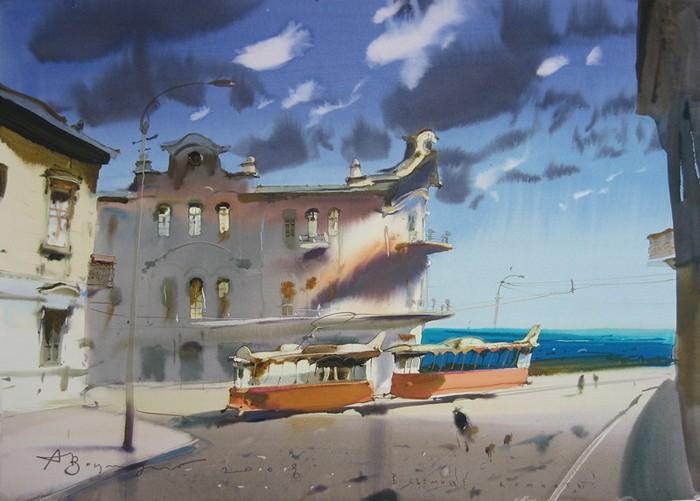 Творчество севастопольского акварелиста Аруша Воцмуша (Александра Шумцова)