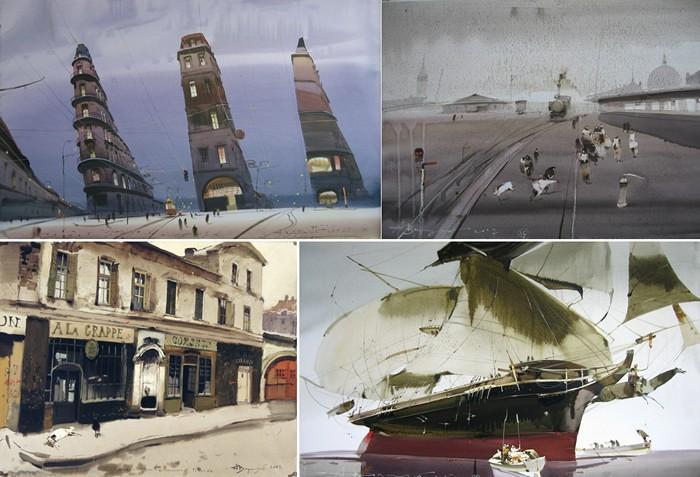 Туманные акварельные шедевры Аруша Воцмуша (Александра Шумцова)