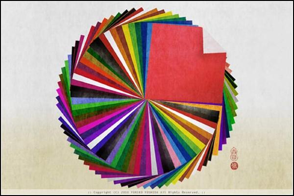 Буква О: оригами
