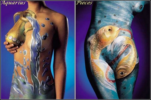 Боди-арт по знаку зодиака. Проект Astrology Body Painting