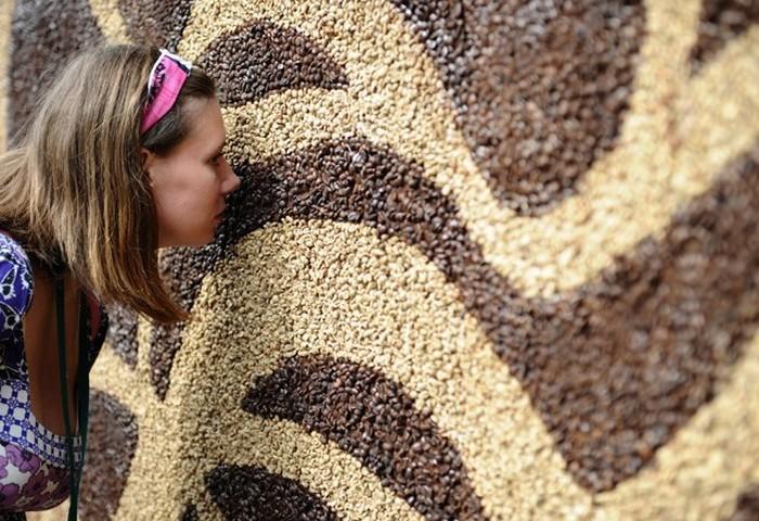 Самая большая в мире картина из 240 кг кофе
