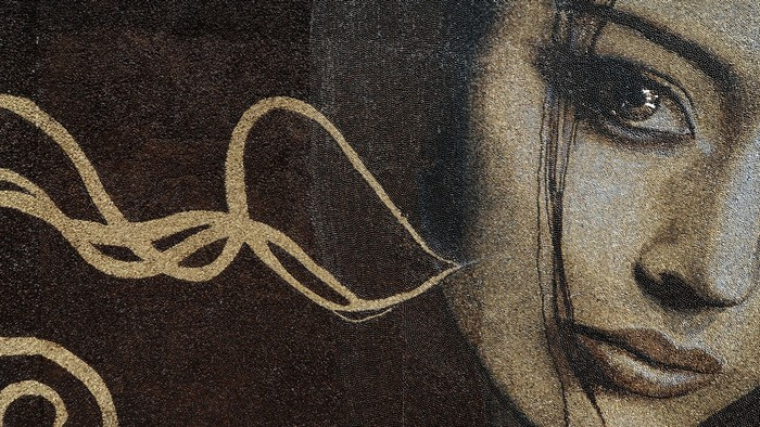 Пробуждение. Самая большая в мире картина из кофейных зерен