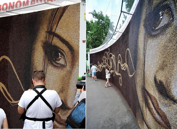 Пробуждение. Самая большая в мире картина из 240 кг кофе