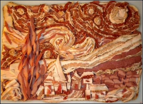 *Звездная ночь* Ван Гога. Бекон вместо красок
