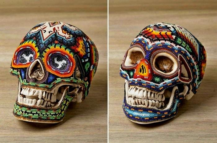 Beaded Skulls, изысканные черепа, украшенные бисером