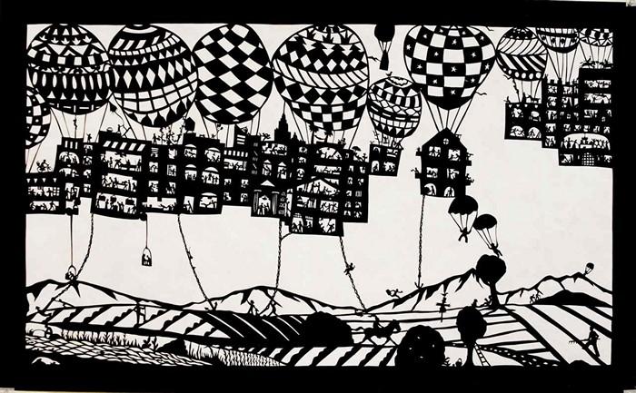 Удивительные миры, города и страны Беатрис Корон (Beatrice Coron), вырезанные из тайвека