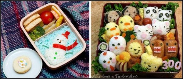 Творческий ланч в японских bento-boxes