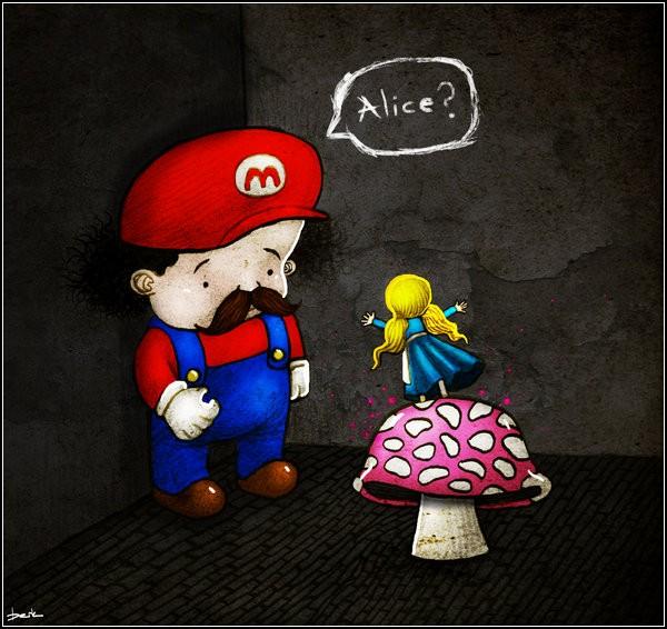 Как Супер Марио с Алисой встретился
