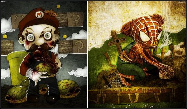 Мультяшные зомби от Berk Ozturk