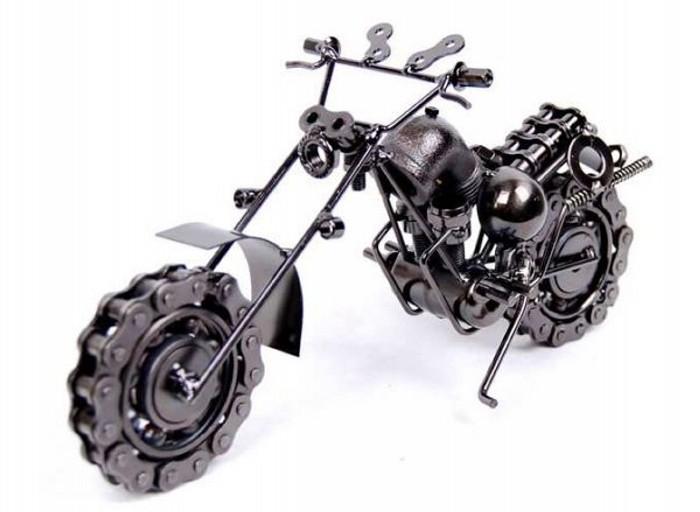 Harley Davidson из запчастей от велосипеда