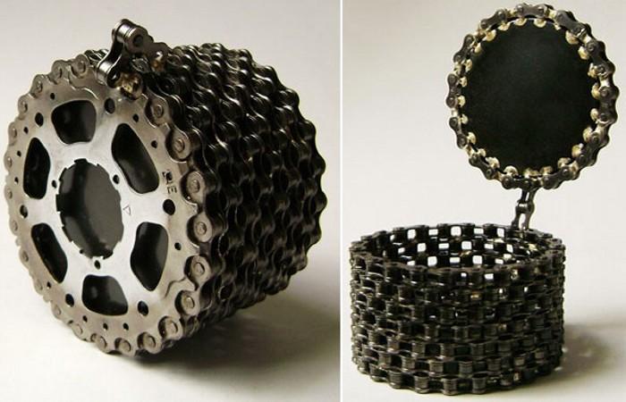 Шкатулка из велосипедной цепи