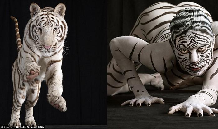 Люди и звери. *Животный* бодиарт в фотопроекте Lennette Newell