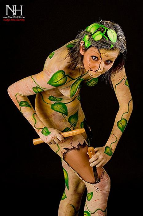Потрясающая роспись по телу от Нади Хлучовски (Nadja Hluchovsky)