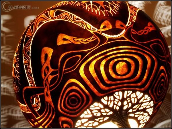 Арт-светильники из высушенной тыквы от Calabarte