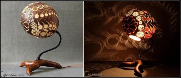 Креативные настольные лампы из тыквы