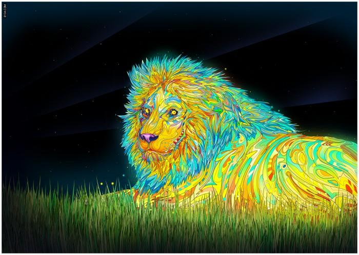 Психоделически яркие кошки в иллюстрациях Матея Апостолеску (Matei Apostolescu)