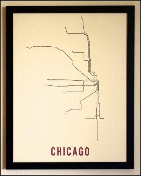 Чикагское метро в типографике. Проект Typographic Transit Maps