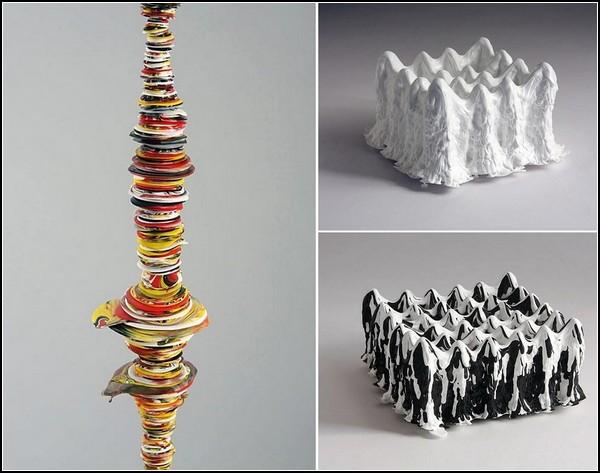 Необычные абстрактные скульптуры из краски от Margie Livingston