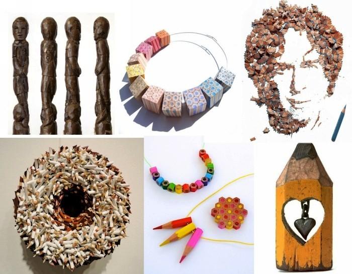 Оригинальные и необычные произведения искусства из мелков и карандашей