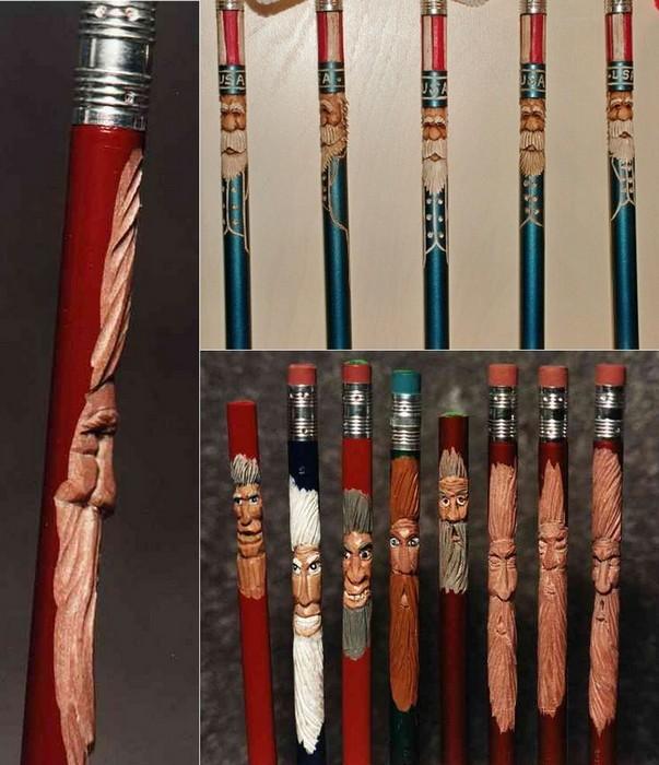 Карандаши-тотемы из серии Pencil Noggins
