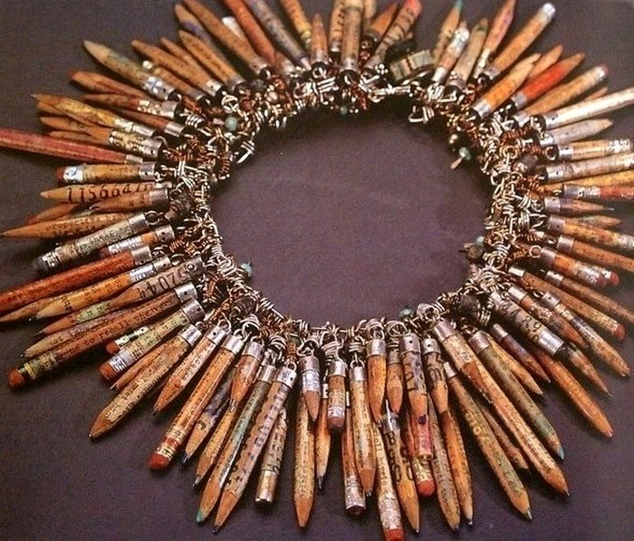 Колье из огрызков карандашей от Susan Lenart Kazmer
