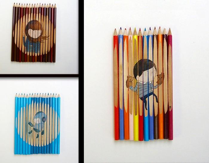 Кавайные рисунки на карандашах от Ghostpatrol
