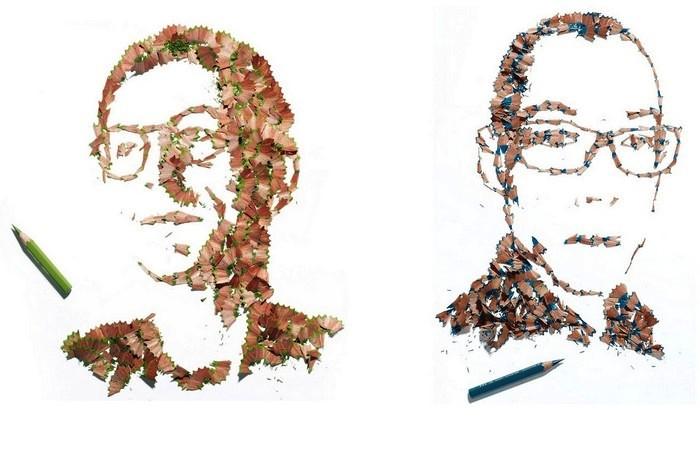 Рисунки из карандашной стружки от Кайла Бина (Kyle Bean)