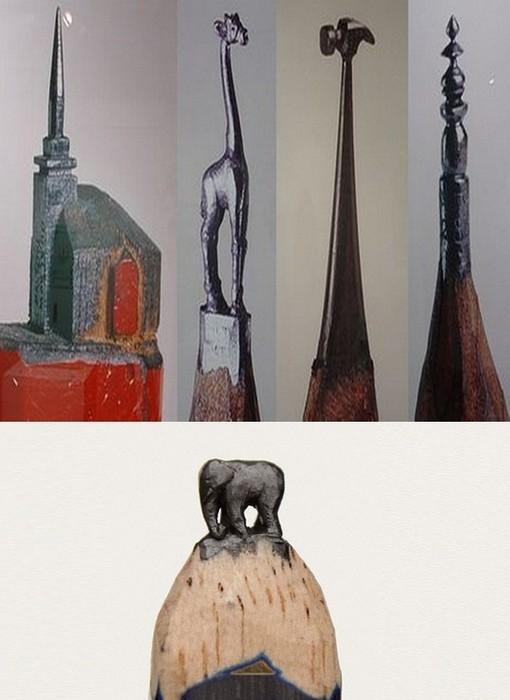 Мини-изваяния из грифеля от Далтона Гетти (Dalton Ghetti)