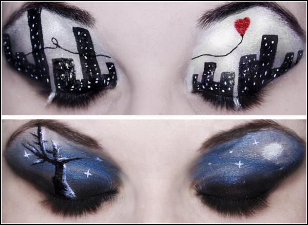 Не глаза, а картины. Креативный макияж от Кэти Алвес (Katie Alves)